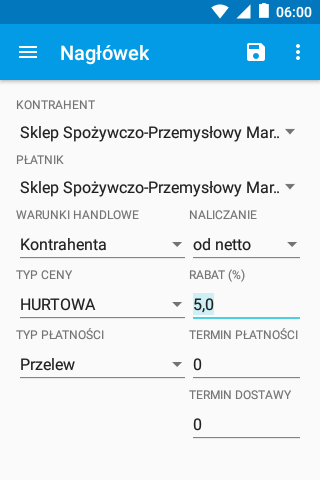 eSale Android - Dokumenty